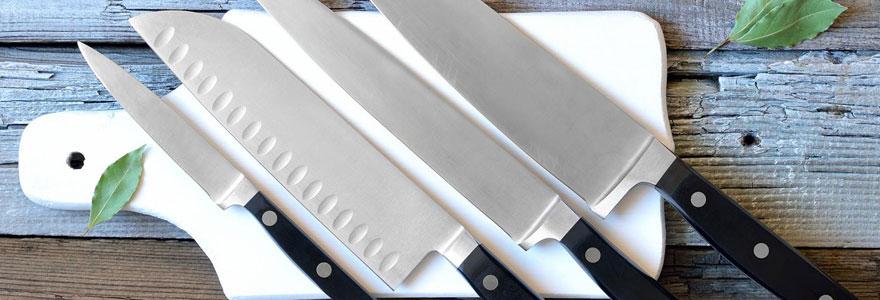Couteaux de grandes marques